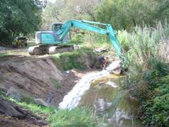 Erosion stabilisation using soft engineering